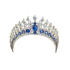 Mellerio Sapphire Tiara (Netherlands) ❤ liked on Polyvore featuring accessories, hair accessories, crown, tiara, jewelry, crown tiara and tiara crown