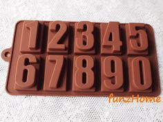 10 Number numeric anniversary Chocolate Silicone cake mold, chocolate mold, ice mold, jelly mold, soap mold, candle mold on Etsy, $3.00 Ice Molds, Soap Molds, Silicone Molds, Candle Molds, Chocolate Molds, Cake Mold, Jelly, Anniversary, Hands
