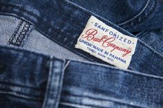 Worn woven labels made in Italy by Panama Trimmings #denim #details #vintage #labeling