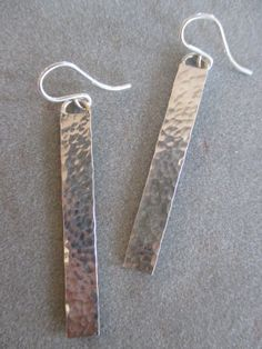 Sterling silver hammered earrings by RichelleJewelry on Etsy, $45.00