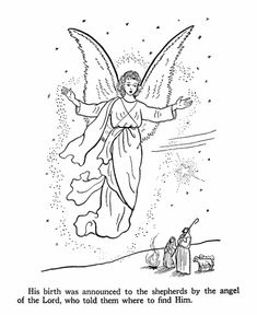 shepherds coloring pages christmas angels and Shepherds of