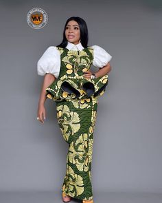 2019 Trendy and Lovely Ankara Skirt and Blouse - Naija's Daily African Fashion Ankara, Latest African Fashion Dresses, African Wear, African Attire, African Dress, Skirt Fashion, Fashion Outfits, Womens Fashion, African Print Skirt