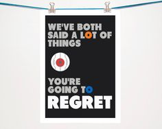 Portal Typography quote print poster Portal Glados by BearAndRobot