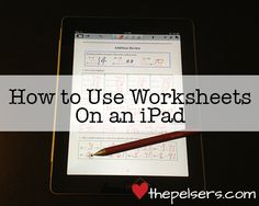 to Use Worksheets on an iPad Looking for a way to save money or make homeschooling more portable? Here's step by step instructions for using worksheets on an iPad.Used Used may refer to: Teaching Technology, Educational Technology, Communication, Instructional Technology, Kids Education, Education English, School Classroom, Kids Learning, Learning Tools