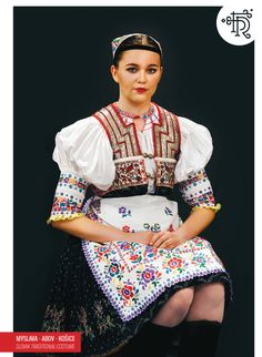 Myslava, Abov, Slovakia Tribal Dress, Wedding Costumes, Folk Embroidery, Folk Costume, Festival Wear, Traditional Dresses, Folklore, Dance Wear, Pattern
