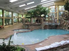 Amazing pool area at the Park Vista Hotel in Gatlinburg, Tennessee.