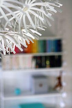 Blomstergården: String i sovrummet. Decor, Ceiling Lights, Ceiling, Home Decor, Light, Chandelier