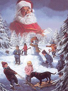 Santas Watching.