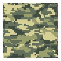 8 Bit Pixel Woodland Camouflage Wood Wall Art
