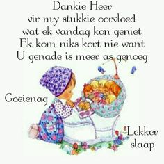 Good Night Blessings, Good Night Wishes, Morning Blessings, Good Night Quotes, Good Morning Good Night, Goeie Nag, Afrikaans Quotes, Special Quotes, Sleep Tight