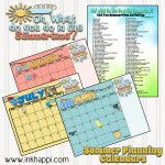 Plan ahead and be prepared to eliminate summer boredom. Ideas for summer activities and 3 free printable planning calendars!