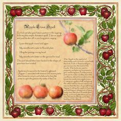 "Samain:  ""Book of Shadows, Apple Magic Page 2,"" by Brightstone, at deviantART. #Samain."