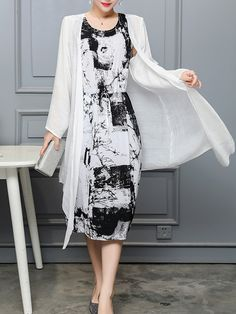 Round Neck Printed Maxi Dress new styles every day from dresses, onesies, heels, & coats, shop womens clothing now. Chiffon Maxi Dress, Maxi Dress With Sleeves, Floral Maxi Dress, Lace Maxi, Dress Lace, Bodycon Dress, Polka Dot Maxi Dresses, Dress Silhouette, Two Piece Dress