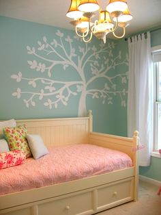Painted tree on the wall.  We are getting ready to redo all of our children's rooms and I really want to do this!