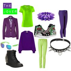 """The Joker (Batman) inspired outfits"" by a-geeks-fashion on Polyvore"