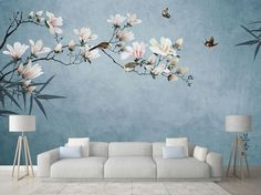 Sale On Interior Paint Open Wall, Cleaning Walls, Magnolia Flower, Wall Wallpaper, Bedroom Wall, Bedroom Sets, Wall Murals, Wall Art, Ceiling Murals