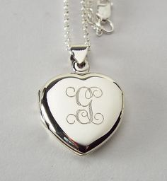 Custom Engraved Locket Personalized Sterling Silver by AnniesHours