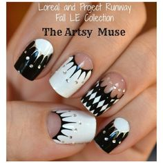 Loreal and Project Runway The Artsy Muse Nail Decals ❤ liked on Polyvore
