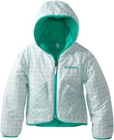 Columbia Little Girls'  Dual Front Jacket, Skylight Gingham, XX-Small $70