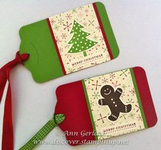 Stampin Up Christmas Gift Ideasroledex | Christmas Gift Tags