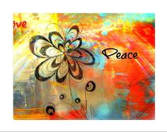 """Awesome digital art expressing peace and love. Add beauty to any room with this gorgeous canvas wrapped art print. Features: • UV-coating, scratch resistant • 1.25"""" thick edges • Ready to hang"""