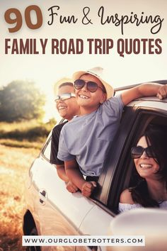 Whether you are seeking the inspirational or motivation to go ahead with a great family road trip, or some small quotes, memes and snippets that will help you through your journey, you'll love these family road trip quotes, perfect for your next family vacation | Our Globetrotters Family Travel Road Trip With Kids, Family Road Trips, Family Travel, Road Trip Quotes, Travel Quotes, Michael Palin, Small Quotes, Big Family, Good Company