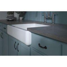 KOHLER, Whitehaven Undermount Cast Iron 35.6875x21.5625x9.625 Kitchen Sink in White, K-6489-0 at The Home Depot - Mobile