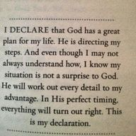 Declaration for new things + Joel Osteen
