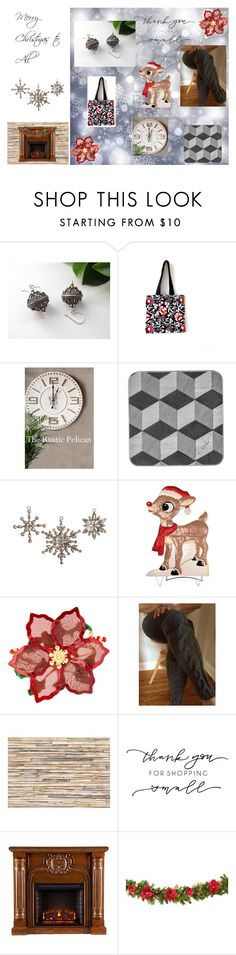 """""""Thank you for Shopping Small"""" by cozeequilts ❤ liked on Polyvore featuring Cultural Intrigue, Improvements, Ten79LA, Brewster Home Fashions and rustic"""
