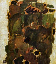 Egon Schiele ひまわり  オーストリア美術館