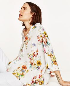$39.90 - OVERSIZED FLORAL PRINT BLOUSE from Zara