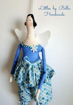 Primitive doll decor winter angel cloth doll tilda dolls