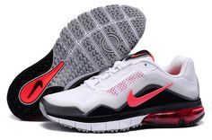 2013 Nike Air Max TR 180 Men White Black Red Running Shoes