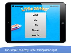 Little Writer Tracing App: Trace Letters & Numbers Trace Letters And Numbers, Tracing Letters, Handwriting Ideas, Infants, Cool Words, Writer, Apps, Lettering, App