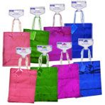 Voila Colorful Medium-Sized Foil and Holographic Gift Bags, 2-ct. Packs