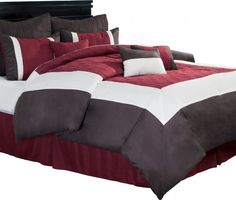 dark brown line for red cover and pillow cases