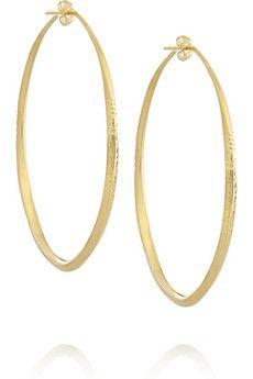 Aurélie Bidermann Apache gold-plated hoop earrings | NET-A-PORTER
