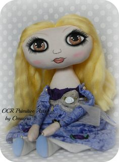 Cecile Collectable OOak Art Doll by OCRPrimitiveArts on Etsy, $70.00