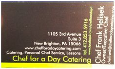 Contact us today to consult your events in 2014. www.chefforadaycatering.com
