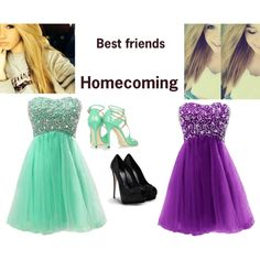 Best friends at homecoming
