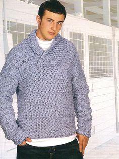 Crochet Patterns Jumper Free crochet pattern: Saugatuck Winter by Drew Emborsky, aka The Crochet Dude Crochet Men, Crochet Jumper, Crochet Gratis, Crochet Jacket, Crochet For Boys, Tunisian Crochet, Love Crochet, Crochet Shawl, Crochet Sweaters