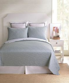 Santorini Grey Coverlet by Trina Turk Bedding - BeddingSuperStore.com