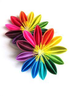 colorful kanzashi