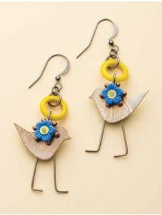 Summer Bluebirds Earrings Material Kit   InterweaveStore.com