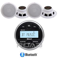 "JBL PRV175 AM/FM USB Bluetooth Digital Marine Radio Receiver,6.5"" 2-Way Speakers built in amp 200$"