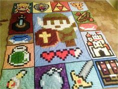 I keep forgetting how badly I want to try making a pixel quilt...