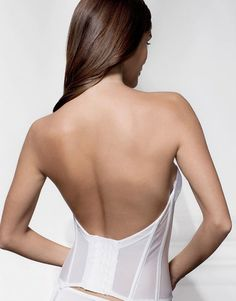 9080c0bd9d4fa Fancy low back basque with beautiful lace front and push up effect.  Available to order. Wedding Nites