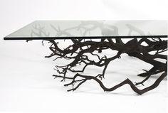 glass table legs and bases:gorgeous sebastian errazuriz tree table