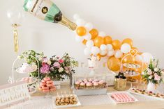 Champagne Part Table from a Champagne Brunch Bridal Shower on Kara's Party Ideas | KarasPartyIdeas.com (18)