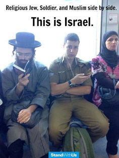 candid shot from public transportation in Jerusalem; the muslim lady knows she is perfectly safe beside the two Jews. This speaks volumes.  where else in the middle east?  NOWHERE!